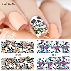 4 Patterns/sheet Skull Water Decals