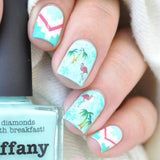 Colorful Flamingo Nail Water Decals