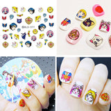 4 sheets Sailor Moon Nail Art Water Decals