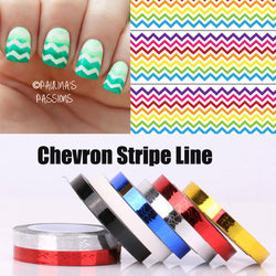 1/6pcs Chevron Nail Striping Tape