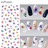 Gradient Flower Nail Water Decals DS255