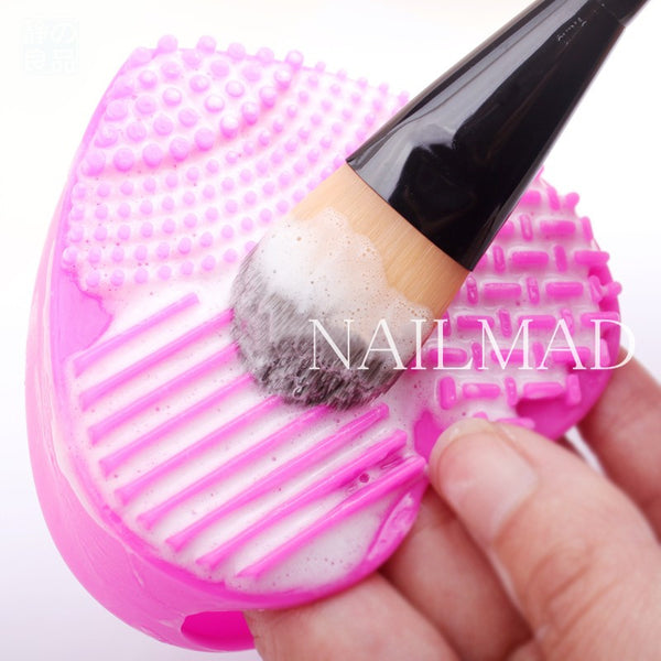 1pc Makeup Brush Cleansing Pad Silicone  Brush Egg