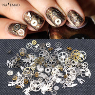 1 Box Steampunk Nail Decoration Ultra Thin Gear Wheel
