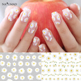1 sheet Daisy Nail Art Stickers Flower Adhesive Sticker