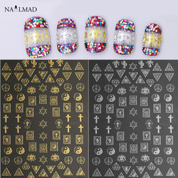 1 sheet Geometric Nail Art Stickers Dreamcatcher Adhesive Stickers