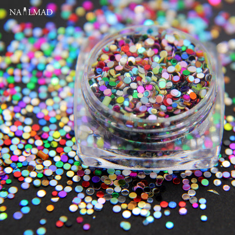 1 box 1mm 1.5mm Mixed Nail Glitters Mixs Paillettes