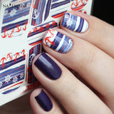 1 sheet Anchor Nail Art Water Decals Navy Anchor Sticker Rudder Water Slide