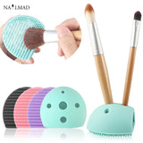 1Pc Brush Egg Scrubber Silicone Brush Cleaning Egg