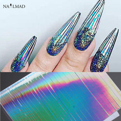 1 sheet Holo Nail Art Stickers Ultra Thin Laser Sticker