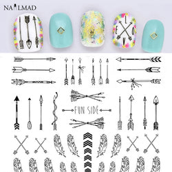 Arrow Feather Nail Art Stickers - 4 colors