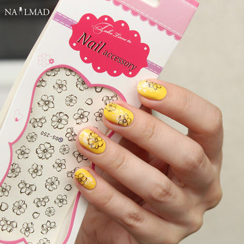 1 sheet Blooming Flower Nail Water Decals DS250