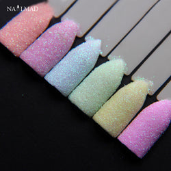 6colors NailMAD Pastel Nail Glitter Set