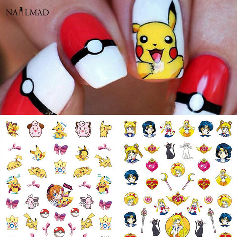 1 sheet Sailor Moon 3D Nail Art Stickers