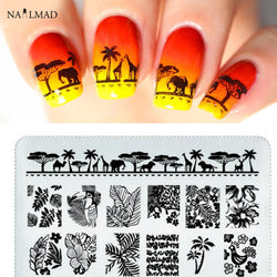 1pc Mandala Nail Stamping Template Elephant Stamping Plate