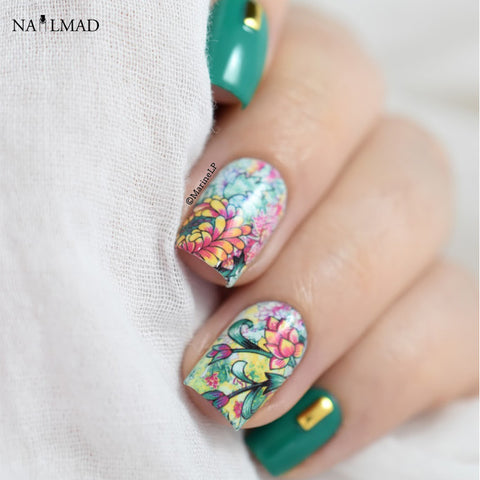 Painting Floral Flower Nail Water Decals