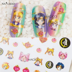 Sailor Moon 3D Nail Art Adhesive Stickers - 2 patterns