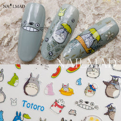 Totoro Nail Art 3D Adhesive Stickers