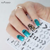 Necklace Nail Art Stickers Black Lace Stickers Decals