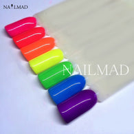 6colors Neon Pigment Powder Ombre Gradient Pigment
