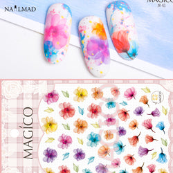 Marble Flowers Nail Art Stickers