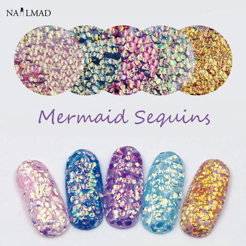 1bag Mermaid Sequins Solvent Resistant Glitters
