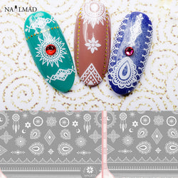 1 sheet Paisley 3D Nail Art Stickers Dreamcatcher Nail Adhesive Sticker