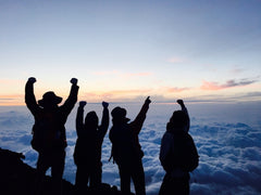 Top of Mt. Fuji: Climbing Mt. Fuji