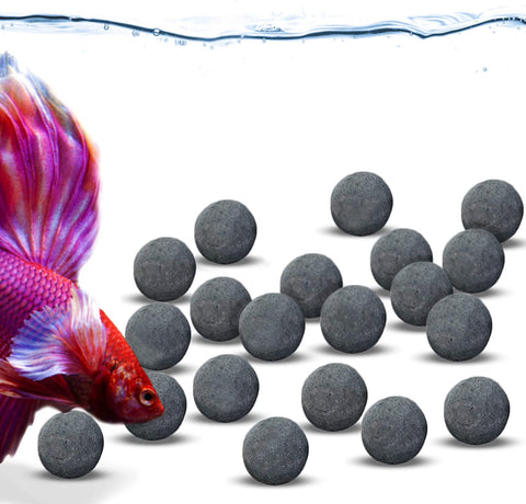 JOR Tourmaline Balls for Betta, Over 30 Beneficial Elements, Calcium-Rich Fish Nourishment, Beads for Active Fish, Aquarium Décor, 20 Balls/Pack