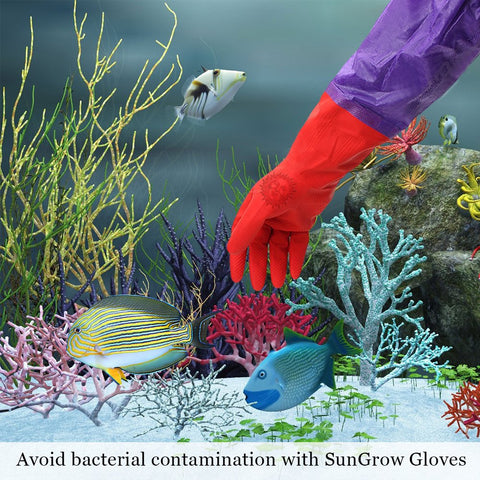 20 Pack - 2 SunGrow Aquarium Water Change Gloves (20