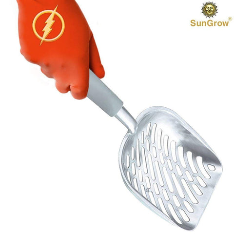 20 pcs Non-stick Cat Litter Sifter Scoop: No Wrist Pain or Hand Fatigue, Anti-Scatter Sides, Industrial Grade Stainless Steel