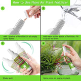 Floro Air Plant Fertilizer for Tillandsia, Keeps Plants Healthy, House Plant Maintenance in 2-Minutes, Water-Soluble Based Plant Food, 1 Spray Bottle, 1 Fertilizer Bag Included