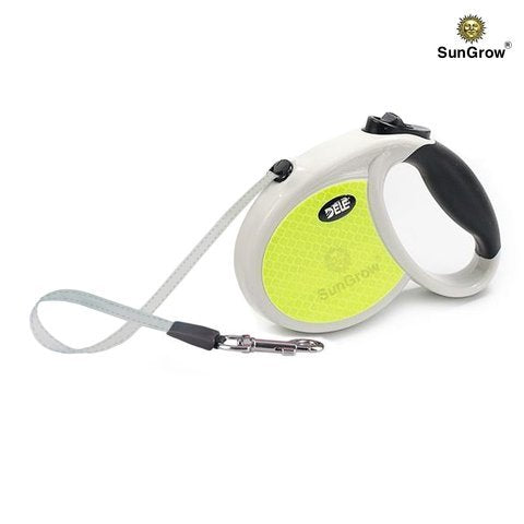 Kid's Dog Leash - Safe to walk at night with Neon reflective tape