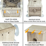 SPY BIRDHOUSE - Provides Bird Entertainment in Your Own Backyard - Comfort Area to Rest & Nest - With Holes for Good Ventilation