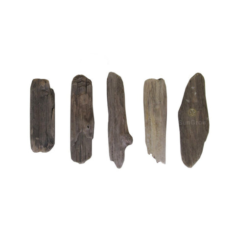 "Natural Driftwood, 5-pieces of 3"" to 12"" various lengths: For aquarium decoration & crafting"