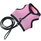 SunGrow Trixie Rabbit Harness (Peppy Pink Color) with Velcro and Fully Elastic Leash