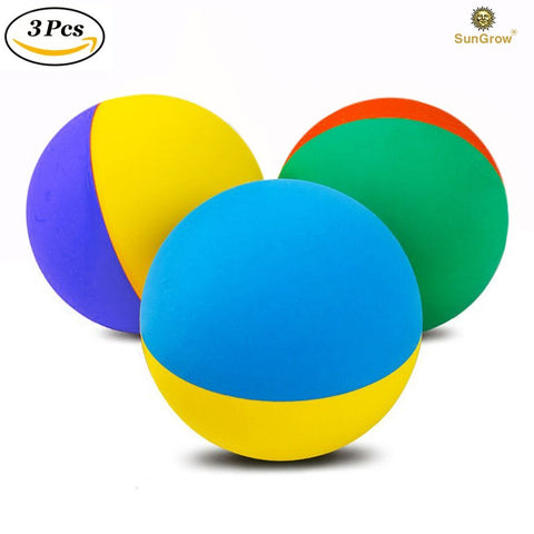 "3 Rubber Chew Balls for Small Dogs & Puppies (2.4"")"