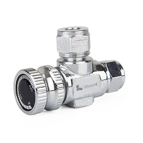 Rhinox Stainless Steel Needle Valve - Necessary for Accurate CO2 Regulation in Solenoid Fish Tanks