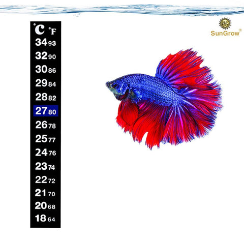Betta Sticker Thermometer - 1 minute to set-up