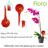 3 Glass Watering Globes for Plants --- Self-watering System - For Indoor or Outdoor Garden - Decorative Hydro Globe Gardening Solution - Hand-blown glass – Available in Vibrant Red, Blue, Green Color