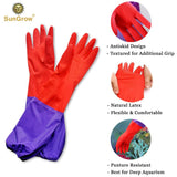 "70 Pack - 2 Aquarium Water Change Gloves by SunGrow (20"")"