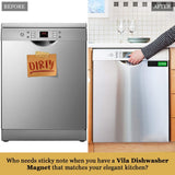 Dishwasher Magnet Clean / Dirty Sign, Easy to Read, Rust-Proof and Stain-Proof Acrylic Kitchen Gadget, With Easy Glide Shutter & Scratch Proof Pads, For Home or Office Use, Perfect Gift