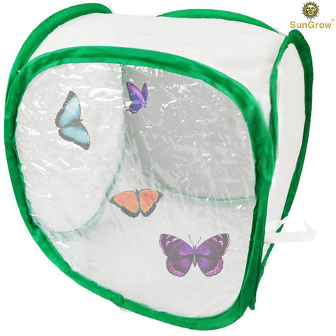 "Backyard Butterfly Cage Habitat: 24"" Tall, Collapsible & Pop-up Terrarium"
