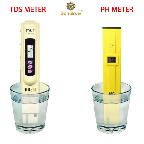 Digital PH and TDS Meter Set  - Batteries included
