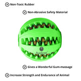 SunGrow Teething Treat Ball for Dogs, Interactive Pet Training Toy, Durable, Rubber Tooth Cleaning Toy, Boredom Buster & for Physical & Mental Stimulation, 1 Piece