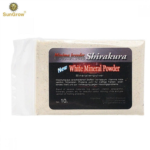 SunGrow White Mineral Powder, Calcium Enriched for Shrimp's Stress-Free molting, Aids in Healthy & Active breeding, Improves Water Quality for Longevity, Imparts Color to Shrimps