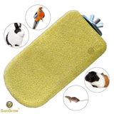 SunGrow Lava Ledge (1 pc) - Pet Safe Pumice Chew Toy Healthy Teeth & Gums - Easy Install, Yellow Mineral Grinding Block Trim Nails - Volcanic Rock Perch Chinchillas, Rabbits, Hamsters & Parrots