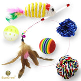 6 Pack Cat Toys