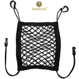 SunGrow Stretchable Pet Barrier and Organizer, 24x47 Centimeters, Storage Net and Seat Restraint for Dogs and Cats, Works in Sedans, SUVs, Vans and Pickup Trucks