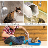 SunGrow Non-Stick Cat Litter Sifter Scoop, Manages Big Clumps of Multi-cat Families, No Wrist Pain or Hand Fatigue, Industrial-Grade Aluminum Alloy, Family Heirloom