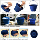 Collapsible Bucket with Storage Bag, Aquarium Water Change Pail, Outdoor water storage container for Camping, Hiking, Gardening, Space-Saving Packable pail for Car, RV, Fishing, Fruit Picking & More